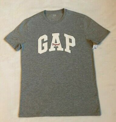 Gap Mens Gray Crew Neck  Short Sleeve Shirt  With Gap Logo Size Small NWT