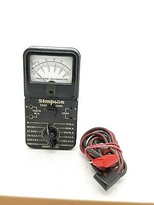 Vintage Bakeite Simpson Model 230 Volt-Ohm-Milliammeter