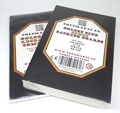 100 Docsmagic.de Golder Size Resealable Comic Bags + Backing Boards - Combo Pack