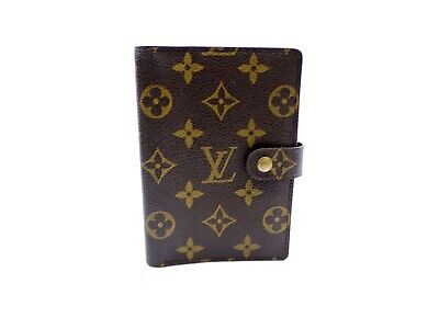Authentic Louis Vuitton Monogram Agenda PM Day Planner Cover R20005 from Japan