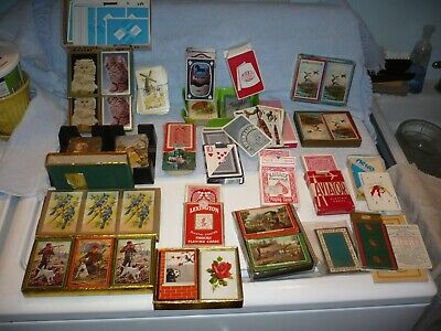 Mixed Lot Of  Vintage & Antique  Playing Cards   mostly pinochle free shipping