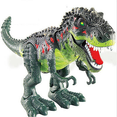 Walking Dinosaur Spinosaurus Kids Light Up Toy Figure Sounds Real Movement