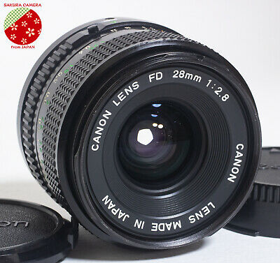 Near Mint CANON NEW FD 28mm F2.8 MF Manual Focus Wide Angle Lens NFD from Japan