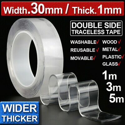 DoubleSided Traceless Nanometer Magic Tape Clear Adhesive Invisible Gel AntiSlip