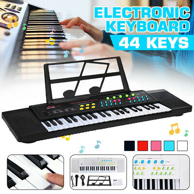Portable Digital Electronic Keyboard Piano 44 Key W/ Microphone For Kids/Adult