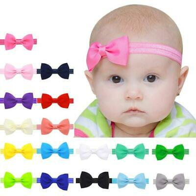 Baby Kids Girls Headwear Party Cute Band Mini Bowknot Hairband Elastic Headbands
