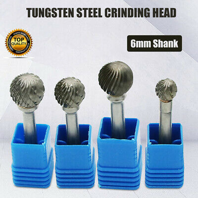 6mm Rotary Point Burr Tungsten Steel Carbide Engraving Grinding Tool