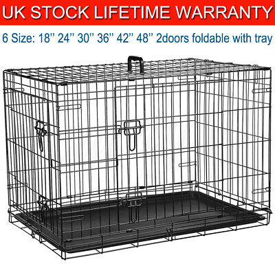 Dog Cat Cage Puppy Training Crate Pet Carrier - Small Medium Large Xl Xxl Cages