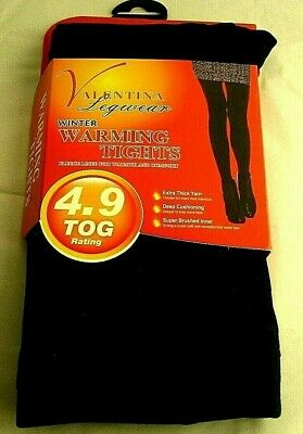 Ladies Girls Thermal Tights With Fleece Brushed Lining Warm Winter Comfy 4.9 TOG