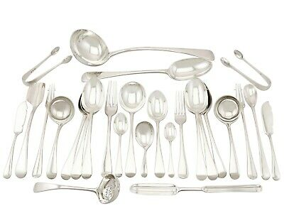 Antique George V Sterling Silver Canteen of Cutlery 1930