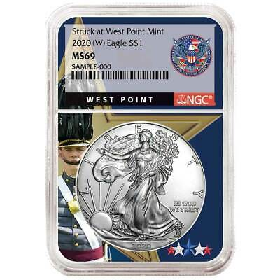 2020 (W) $1 American Silver Eagle NGC MS69 West Point Core