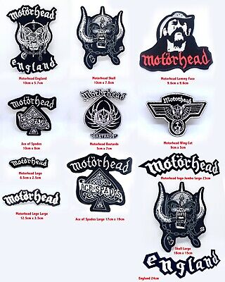 Motorhead Rock metal music band collection Iron or sew on Embroidered Patches