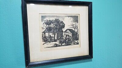 Vintage pencil drawings by san Antonio TX. Artist Florence Coleman (1889-1980)