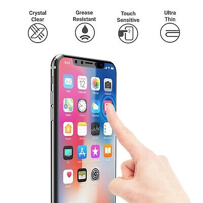 For iPhone X Xs Max Xr Screen Protector Clear 2.5D Tempered Glass 100% Genuine