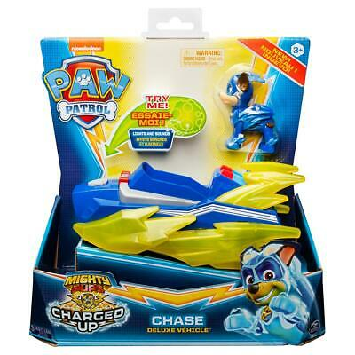 PAW Patrol Mighty Pups Charged Up Chase Deluxe Vehicle Pre Order