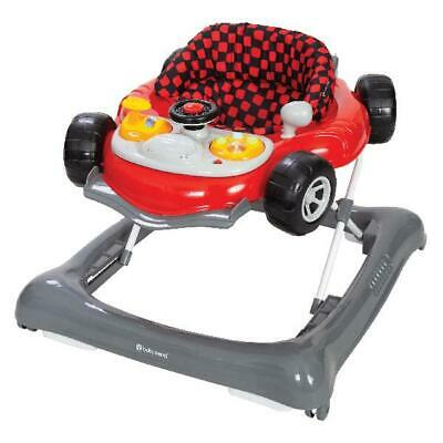 Baby Activity Walker Speedster Large Toy Bar Tray Adjustable Height Unisex Red