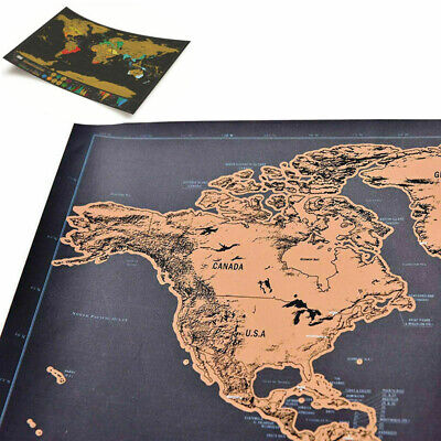 Deluxe Scratch Off World Map Journal Poster Map Of The World Gift Log Giant