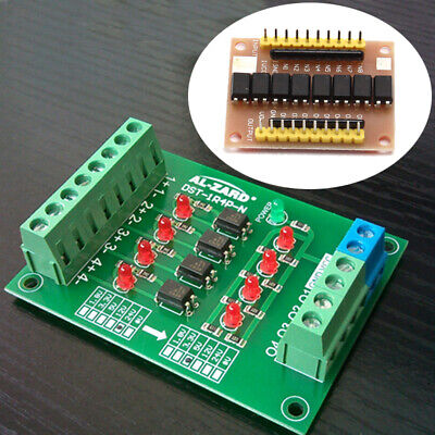 4 Bit Isolator 12V to 3.3V PLC Signal Converter + 8Channel 12V Optocoupler Board