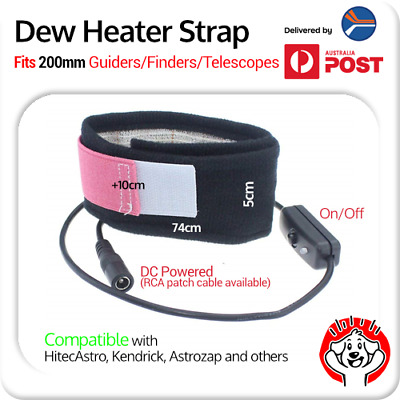 Dew Heater Strap for 8″ / 200mm Guider, Finder or Telescope (29″ / 74cm long)