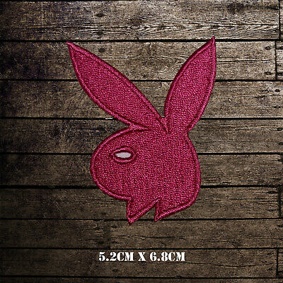 Playboy Bunny Logo Embroidered Iron On Sew On Patch Badge For Clothes etc