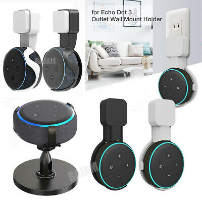 Wall Mount Holder Stand Hanger Socket For Amazon Echo Dot 3rd Gen Smart Speaker