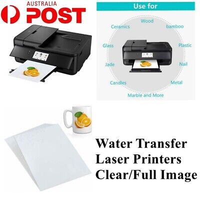A4 Waterslide Decor Paper For Laser Printer Glass Ceramic Water Transfer Paper
