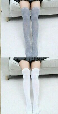 Ladies Girls Long Over The Knee Plain Cotton Socks- Attractive Colours
