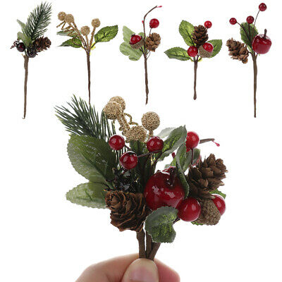 5PCS Real Natural Small Pine Cones In Bulk Fit Christmas Topper Tree Ornaments