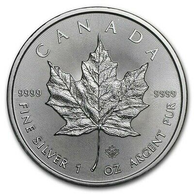 MAPLE LEAF 2020 Canada - $5 Dollars - 1 once argent 1 oz silver coin