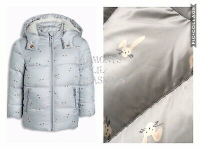 Bnwt Next Silver Bunny Character Padded Jacket. Age 2/3 Years