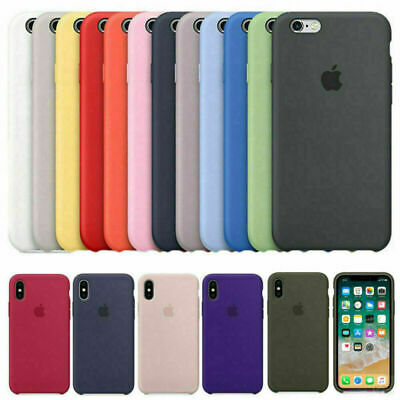 Original Silicona Genuina Case Funda Para iPhone 6S 7 8 Plus X XR XS 11 Pro Max