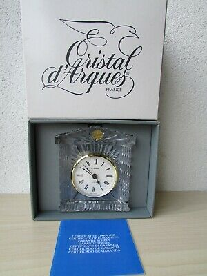 Crystal Cristal 'd Arques-French: GRECIAN  Desk or Mantle Clock - STAIGER M/MENT