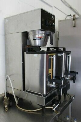 Soft Heat Coffee Brewer - 2 Coffee Tanks + Seperate Heater -Elec -Tested Working