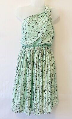 Vince Camuto Womens Off Shoulder Dress Green Size 4 Floral Tree Print