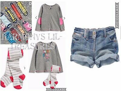 BNWT Girls NEXT PENCIL POT EMBROIDERED TOP & TIGHTS & SHORTS SET. AGE 2/3 YEARS
