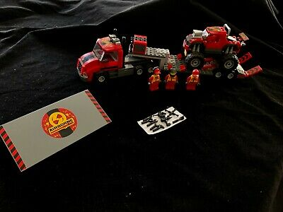 Lego City Set 60027 Monster Truck Transporter 100% complete w/Minifigs - No inst