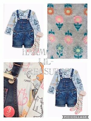 BNWT Girls NEXT CAT CHARACTER PLAY SUIT/TOP & TIGHTS SET. AGE 3/4 YEARS