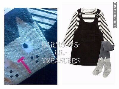 BNWT Girls NEXT CAT CHARACTER DRESS /TOP & TIGHTS SET. AGE 3/4 YEARS