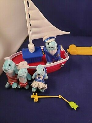 Furryville Whales The Finnegans Go Sailing Dolphins Boat NEW