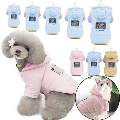 Small Dog Winter Warm Coat Pet Cat Puppy Fleece Hooded Jackets Clothes Hoodies