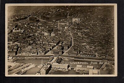 Liverpool, from the Air - real photographic postcard