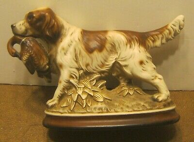 M TAKAI Made In Japan Ceramic POINTER DOG w Duck In Mouth EXCELLENT Shape!!!!