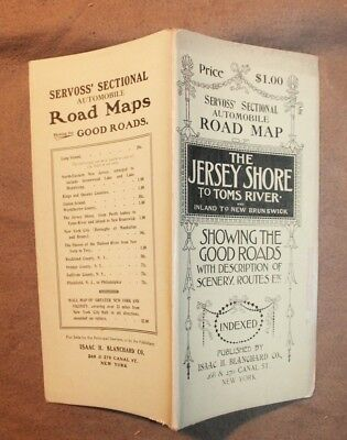 1905 NEW JERSEY SHORE TO TOMS RIVER SECTIONAL ROAD MAP - 12 fine maps Servoss