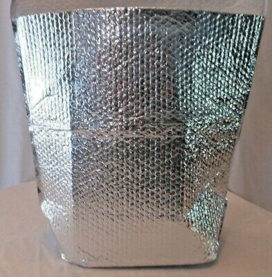 10 insulated foil thermal bubble shipping bag box liners approx 19 x 16 x 6
