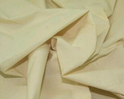 """4 metre of extra wide 63"""" medium upholstery CALICO FABRIC 100% COTTON"""