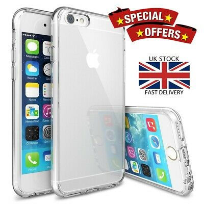 For Apple iPhone 6 & 6S Crystal Clear Shockproof Silicone Protective Case Cover