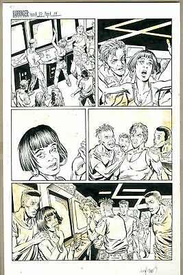 Original Art for Harbinger Issue 10, Page 14 by David Lapham and Gonzalo Mayo