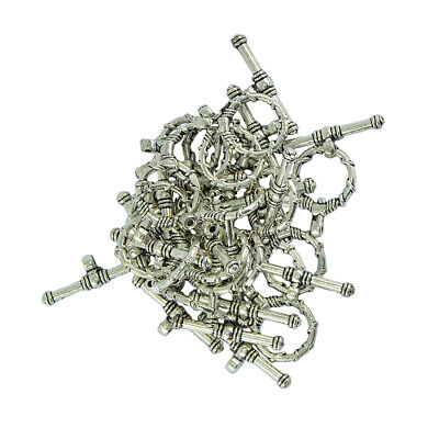 Necklace Bracelet Clasp 37887-206 4  Silver Plated Smooth Round Toggles 15mm