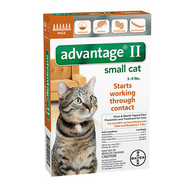 Bayer Advantage II for Small Cats 5-9 lbs - 6 Pack - NEW