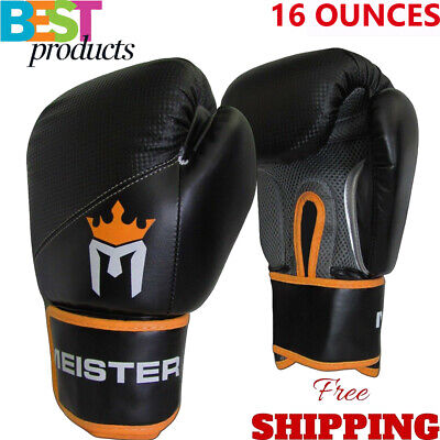 Meister Leather Boxing Gloves Muay Thai Training Punching Bag Sparring Gloves